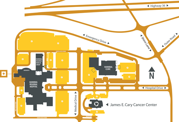 James E. Cary Cancer Center Map